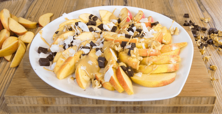Hungry for a Healthy TV Snack? Try Apple Nachos