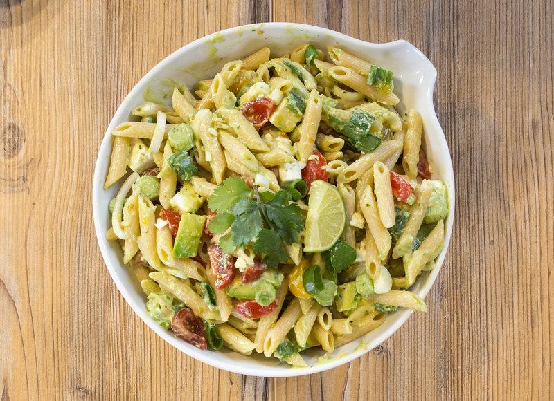 Yummy Creamy Avocado Pasta Salad