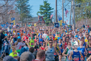 Start Boston Marathon.