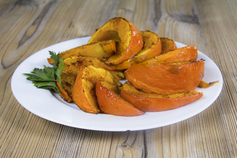 Healthy Fall Snack: Oven-Roasted Pumpkin Wedges