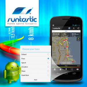 NEW FEATURE – colored traces in the runtastic Android app
