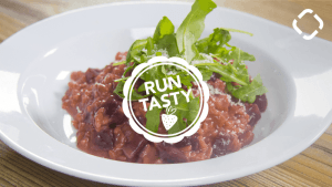 Runtasty red beet risotto