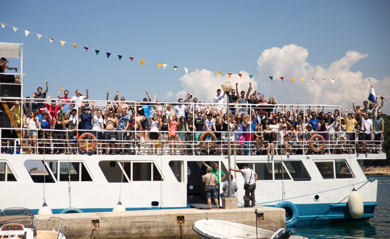 Runtastic Partyboot in Kroatien