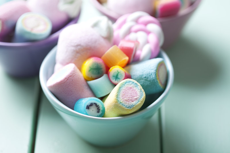 A bowl with sweets.