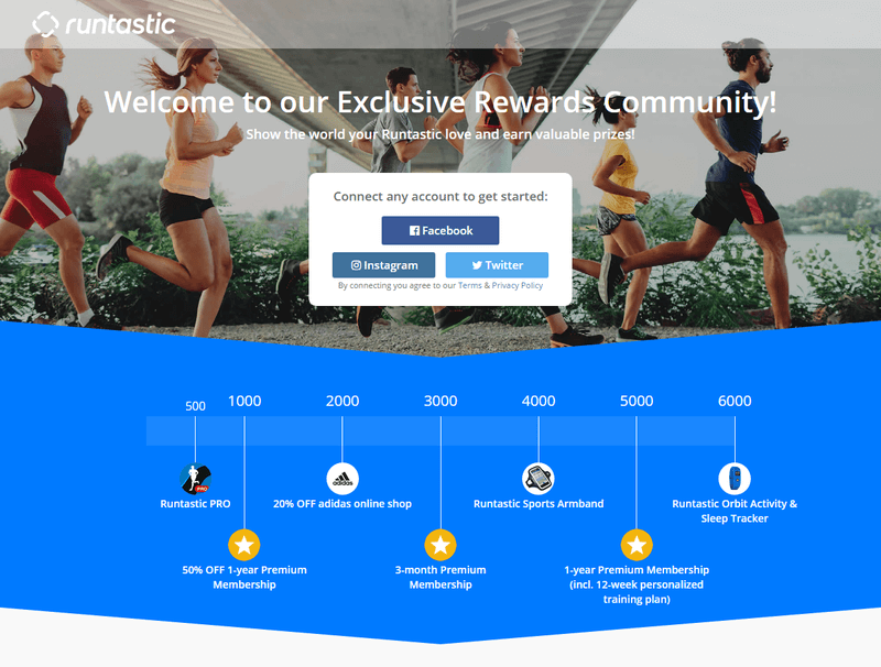Runtastic Rewards: Earn Points & Win Prizes