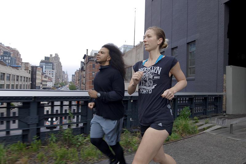 Jessie Zapo running in New York City