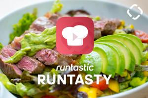 Mehr Muskelpower: Bunter Salat mit Steak & Avocado