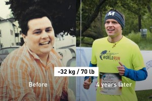 "Benni's Weight Loss Secret (-32 kg/70 lb): ""Run, Run, Run"""