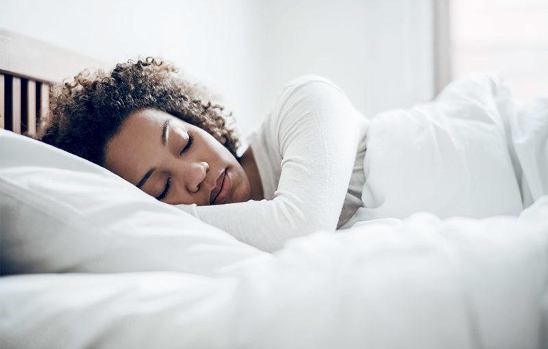 Young women sleeping