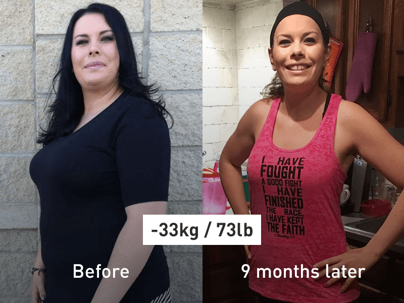 Runtastic success story before and after image Tegan.