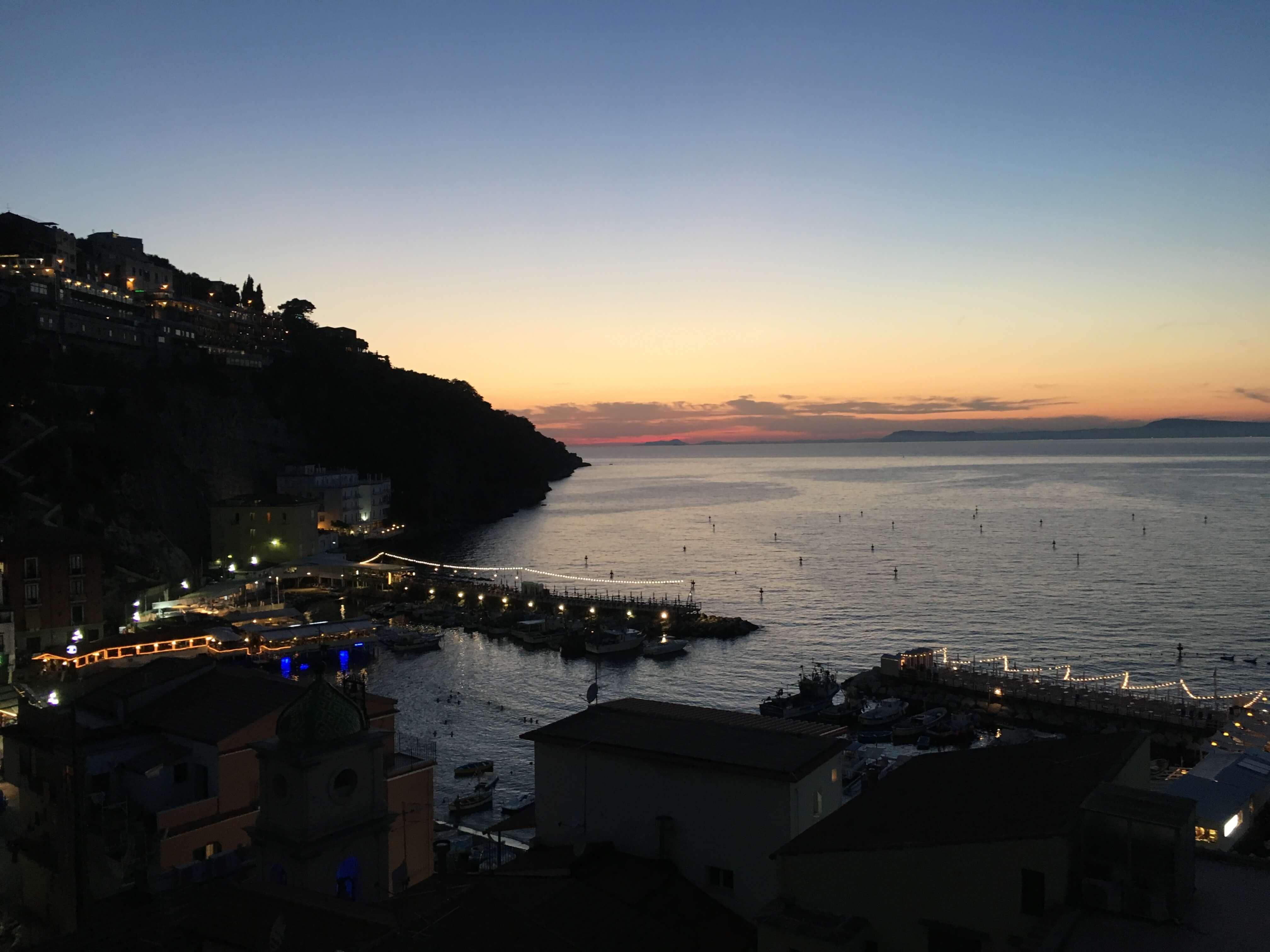 Sunset on the Amalfi Coast of Italy