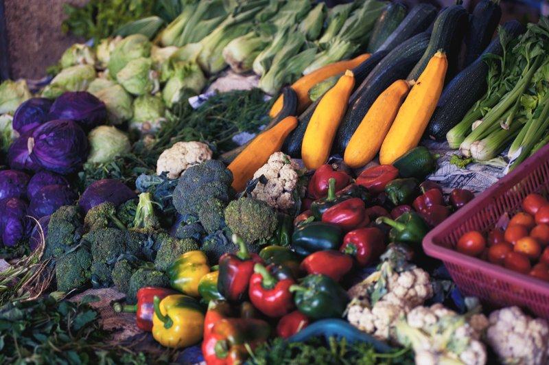 Viele verschiedenen Gemüsesorten