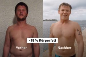 Results App: So wurde Vincent 18 % seines Körperfetts los