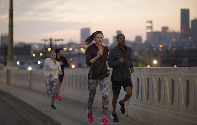 People running in the city