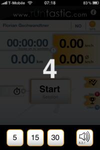 Countdown feature – iPhone App runtastic