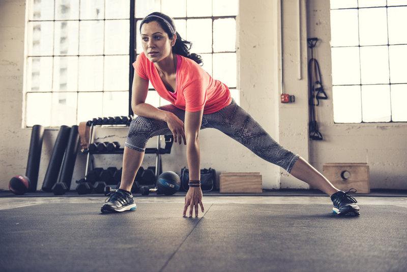 Woman doing bodyweight training
