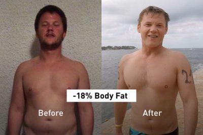 Cómo Vincent perdió un 18% de grasa con la app Results