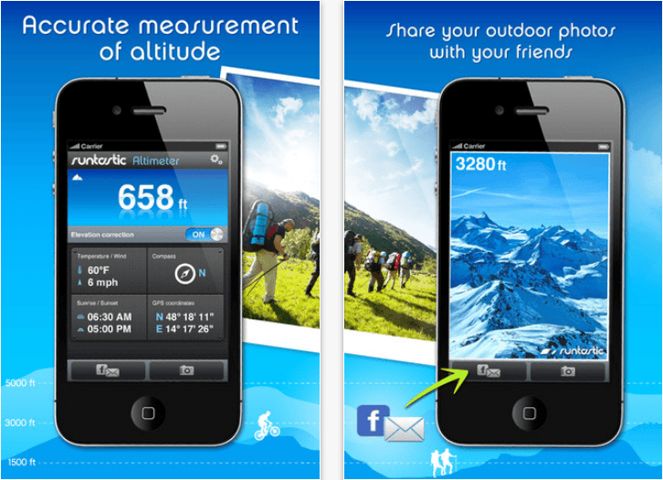 The Runtastic Altimeter App Is Now Available In The App Store And - Altitude measurement app