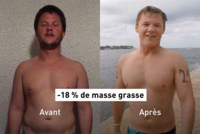 Appli Results : comment Vincent a perdu 18 % de masse grasse