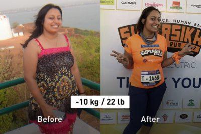 "-10 kg (22 lb): ""This Year I'm Going to Run My First Full Marathon!"""