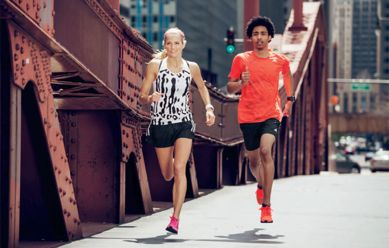 Two friends are running a 5k.