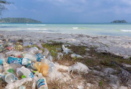 Plastic waste on the beach