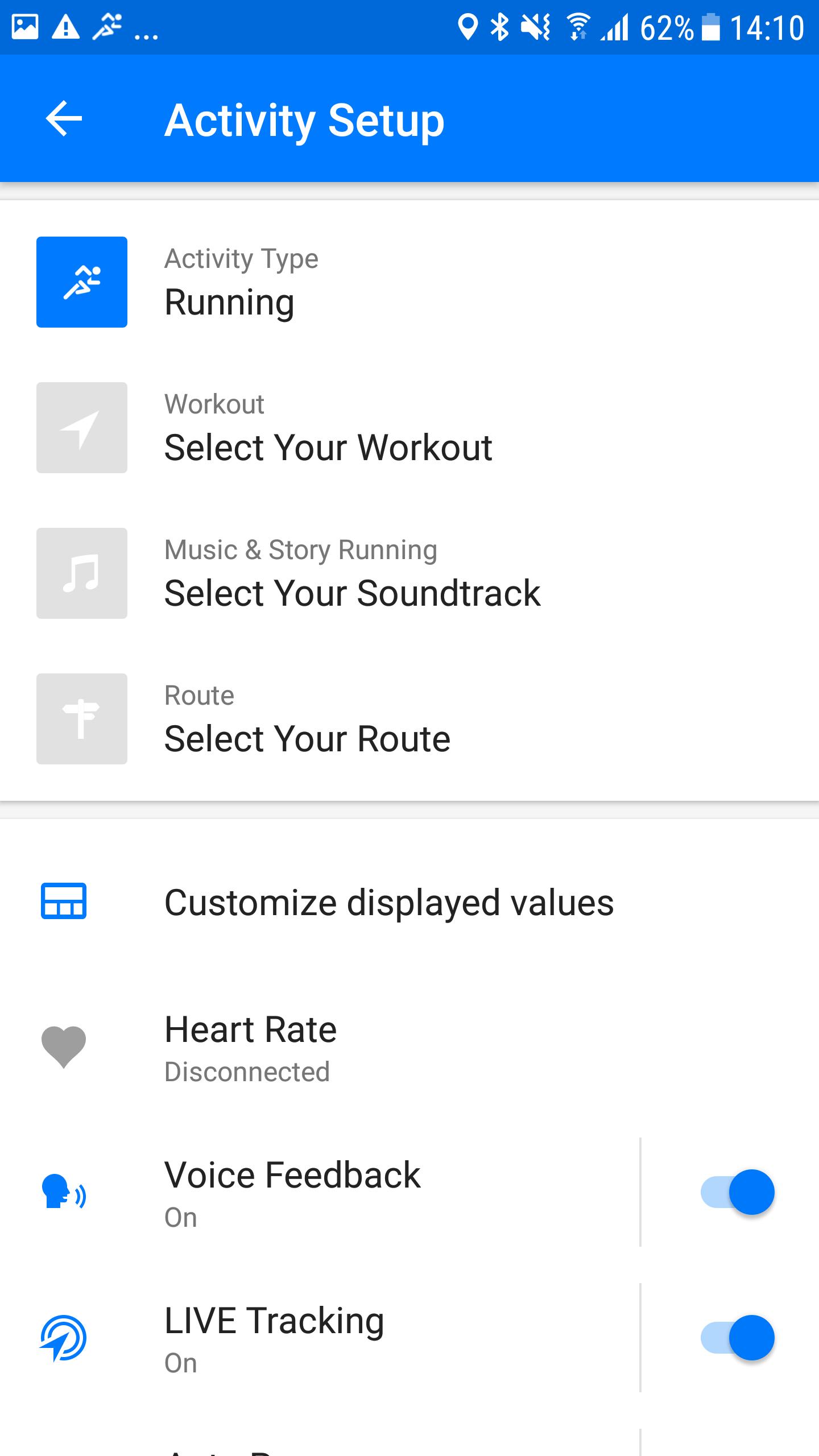Screenshot Runtastic Story Running Android