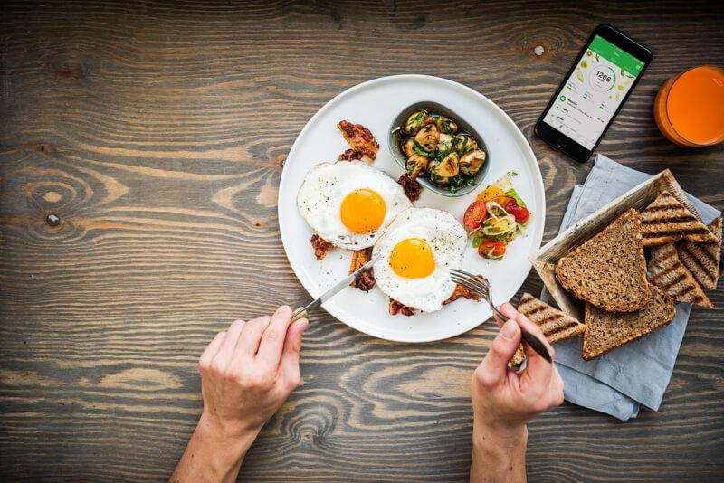Alimentos para runners; huevos, pan y verduras