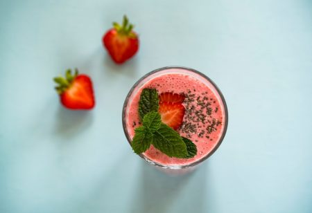 Seasonal food in may - strawberries
