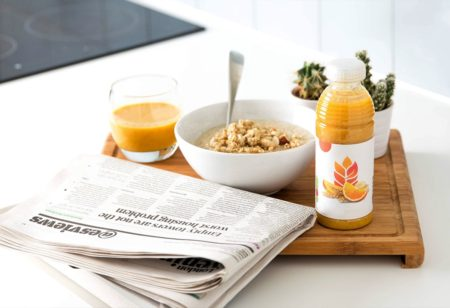 Fruit juices and store-bought granola