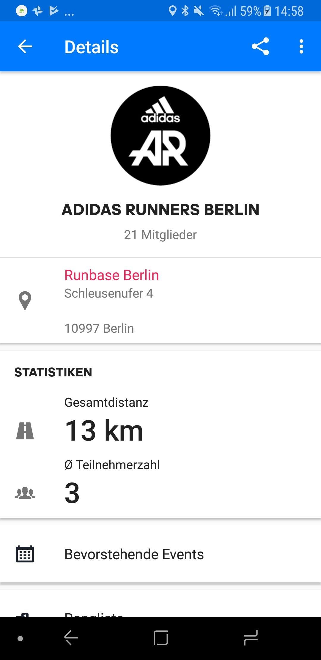 adidas Runners Community Details Runtastic App