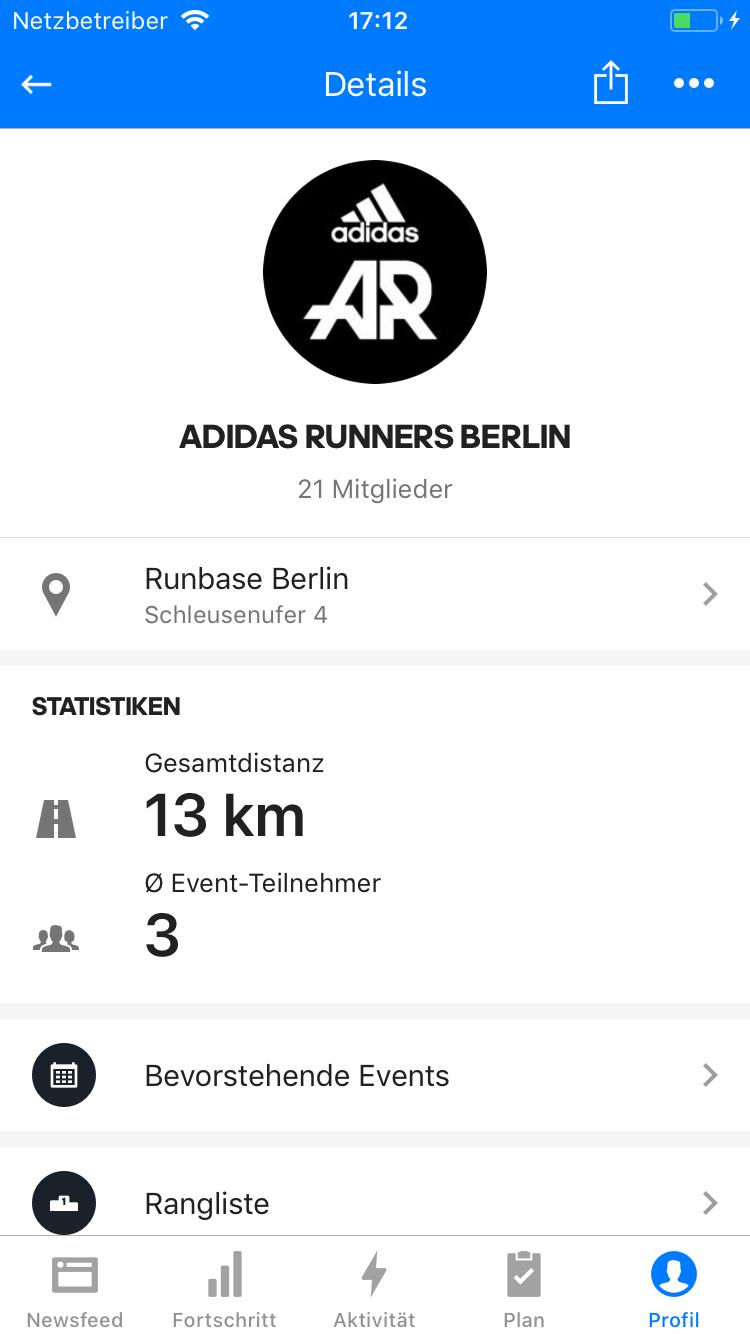adidas Runners Gruppen Details