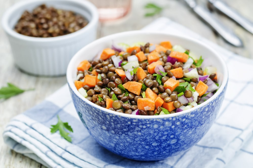 Salad with lentils and carrots