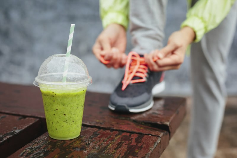 Healthy smoothie before race.
