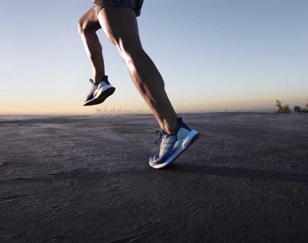 Läufer mit neuen Laufschuhen