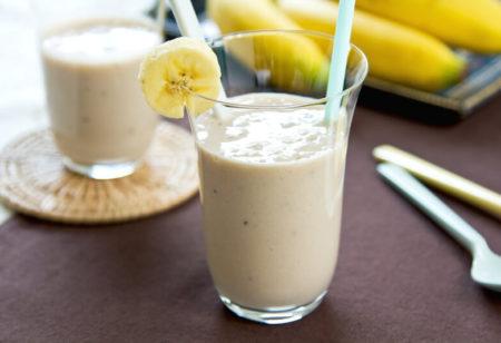 Protein shake with banana.