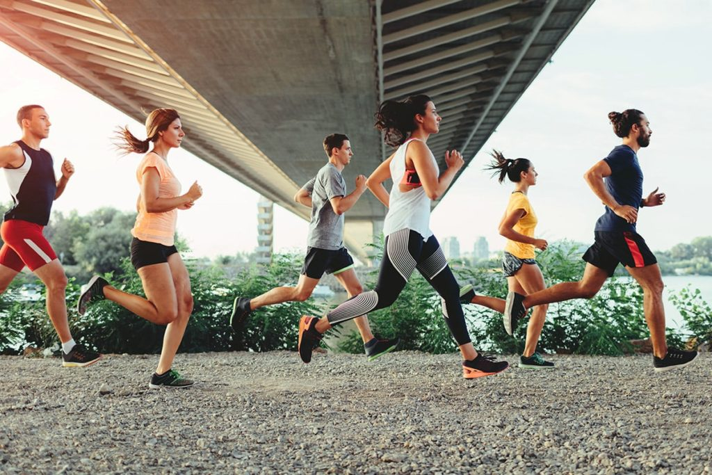 Halbmarathon Läufer