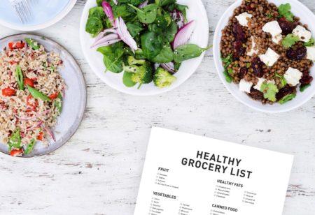 Healthy shopping list