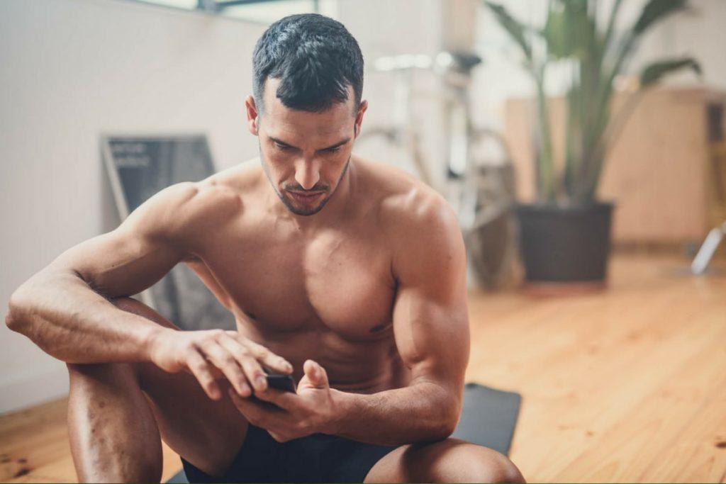 Man with big biceps