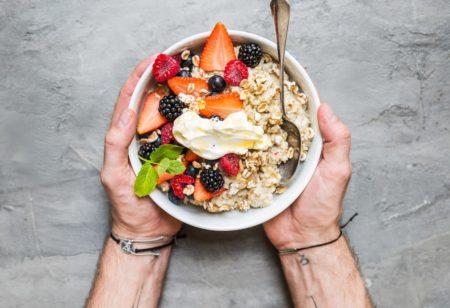 Special breakfast oatmeal porridge