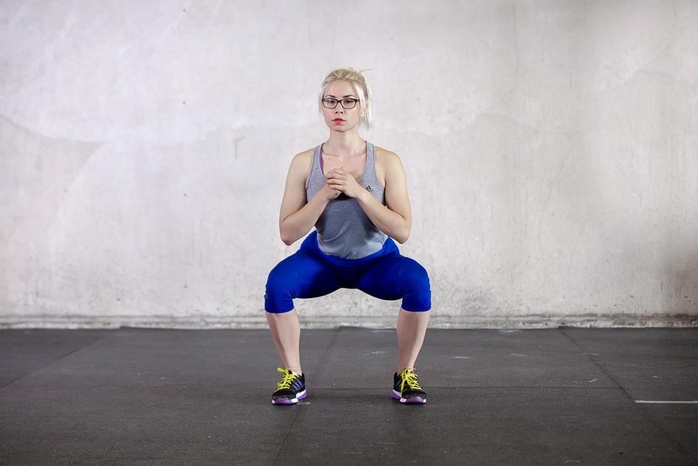 Squats - nach außen gedrehte Knie