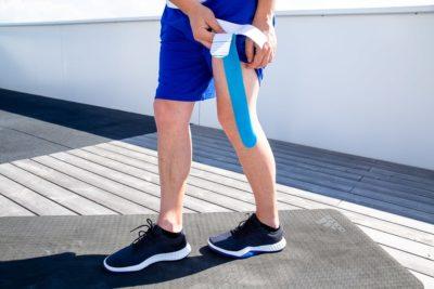 Taping runner's knee