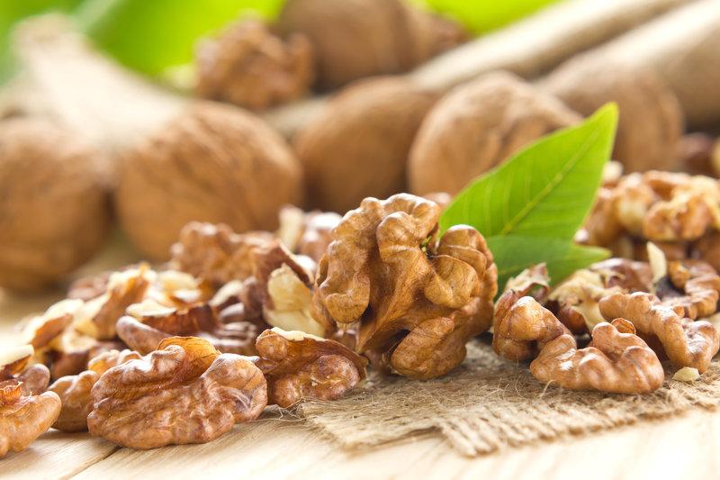 A handful of walnuts