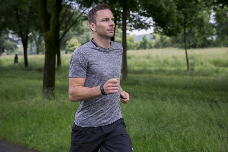 Man running in the park.