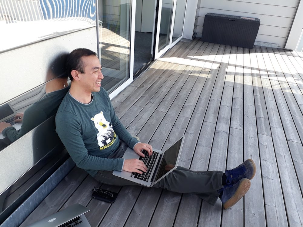 Runtastics love to spend time working on the terrace