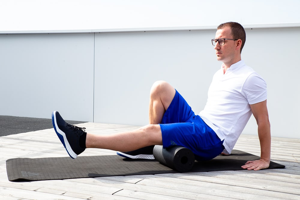 Foam rolling hamstrings for Pes anserinus Snydrome