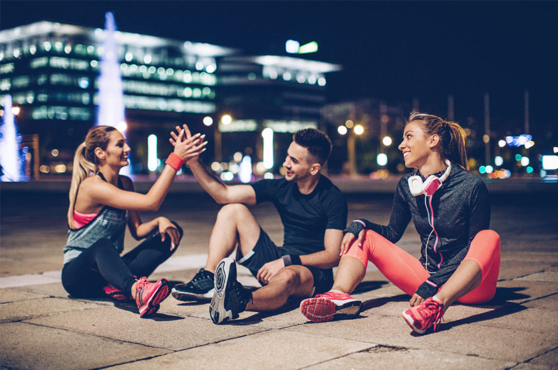 A group of people after a workout
