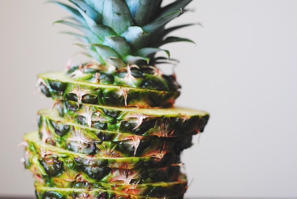 Cut pineapple
