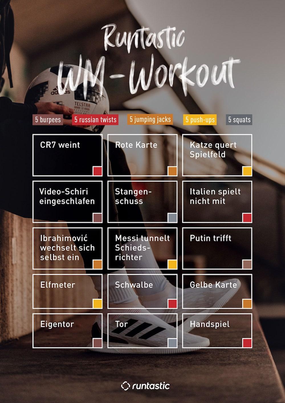 Weltmeisterschaft workout
