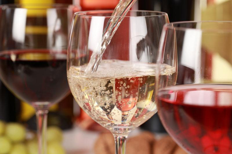 A glas of white wine.